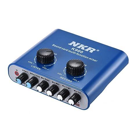 ammoon Mezclador de Audio Multifuncional Digital USB Tarjeta de ...