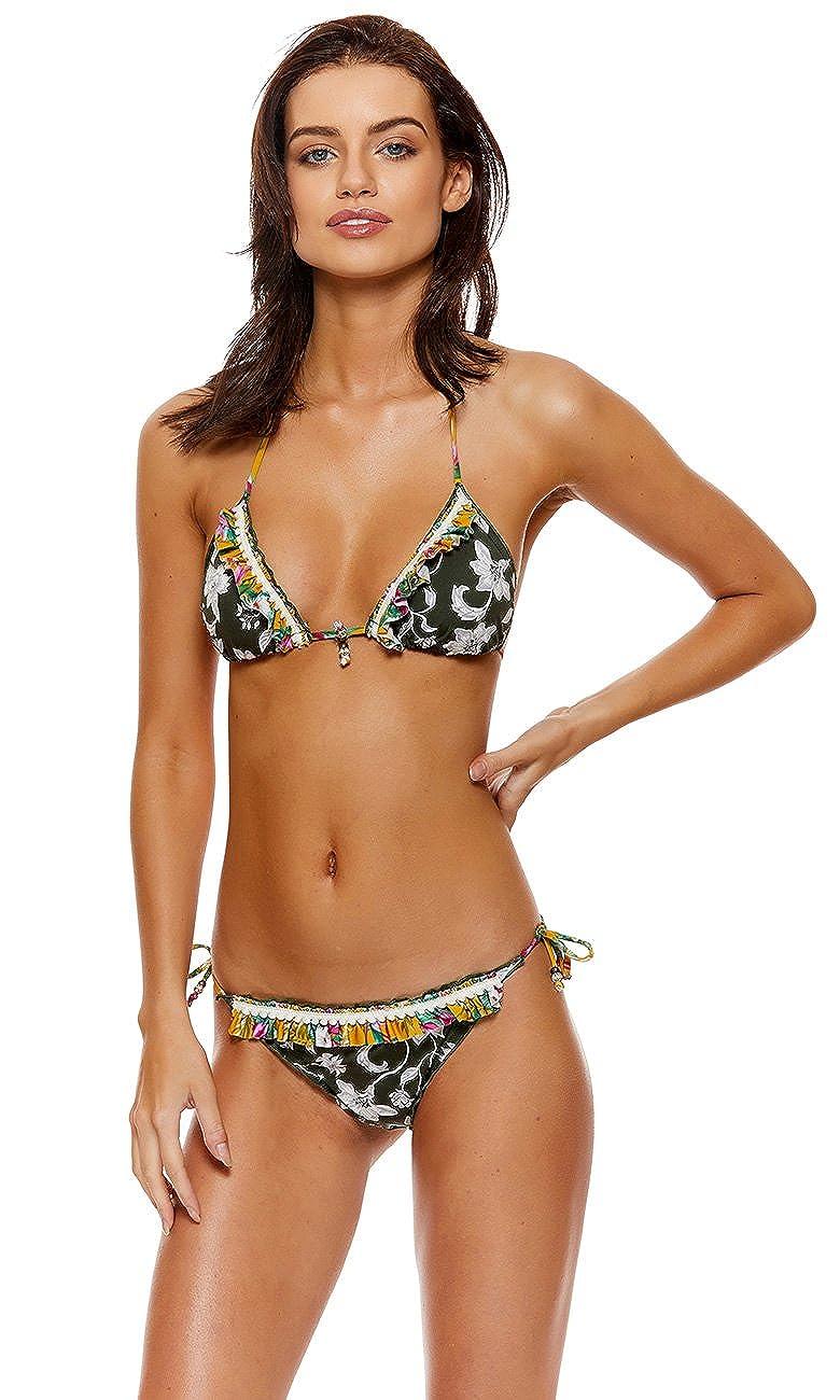 Banana Moon Khaki Bikini-Top Triangel Flowerbloom Sirvo 23110