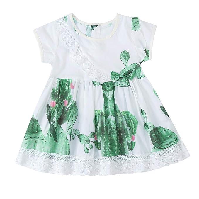 Amazon.com: Vestido de verano para niñas con estampado de ...