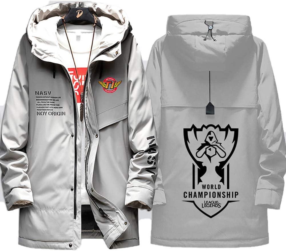 73HA73 Chaquetas para Hombre Abrigo Invierno para S9 LOL World Championship T1 SKT E-Sport Capa Gruesa Cazadora Caliente Coat Casual Outwear Jacket (No Shirt)