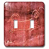 3dRose Danita Delimont - Artwork - Native american Fremont Petroglyph of a sheep, Capitol Reef NP, Torrey - Light Switch Covers - double toggle switch (lsp_260379_2)