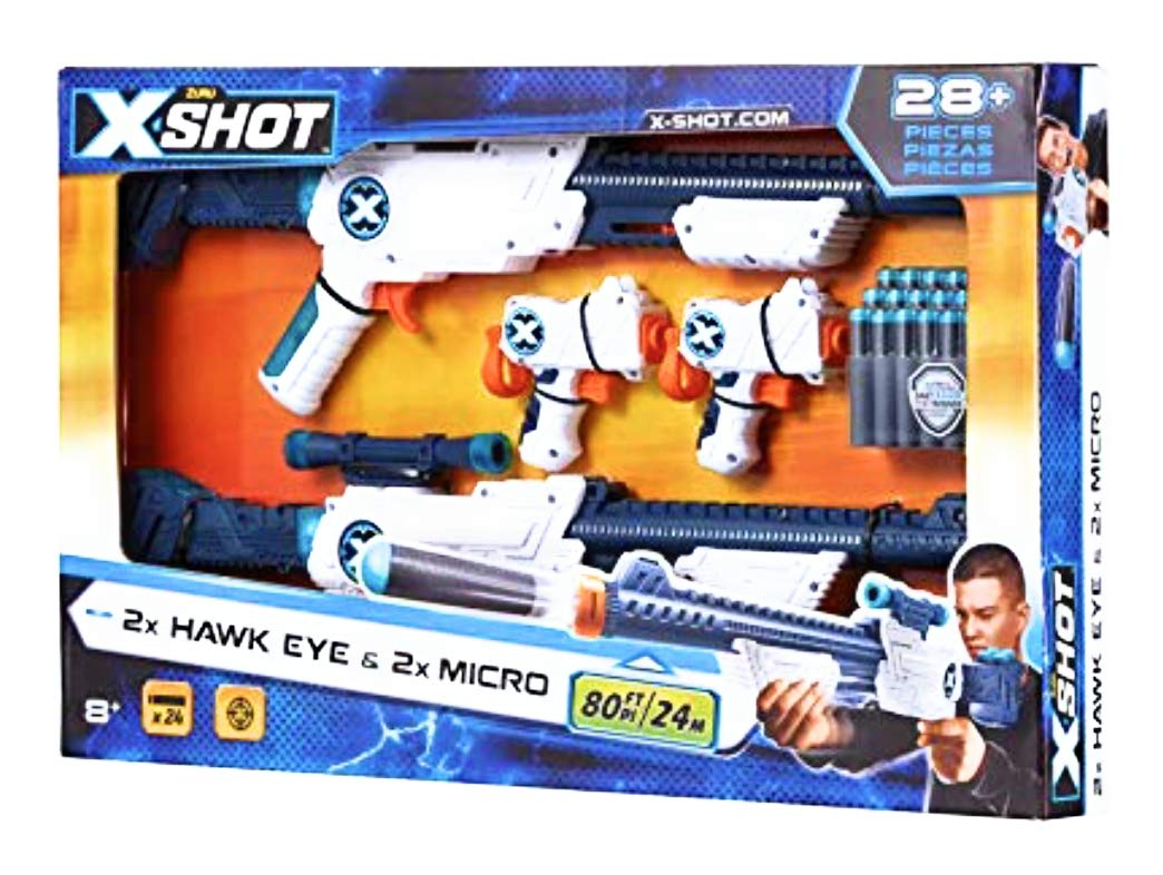 X-Shot Combo Double Hawk Eye & Double Micro Blasters