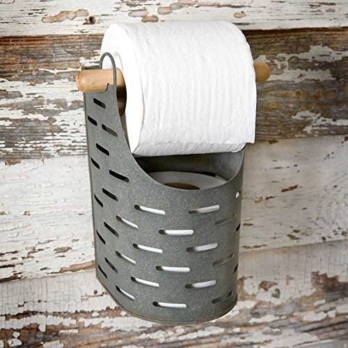 Colonial Tin Works Metal Toilet Paper Holder,grey Bath Unlimited Toilet Paper Holder