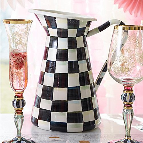 MacKenzie-Childs Courtly Check Enamel Practical Pitcher by MacKenzie-Childs (Image #2)
