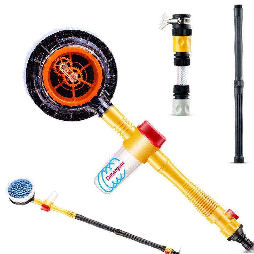 JSCARLIFE Car Pressure Washer Rotating Wash Brush Vehicle Care Washing Sponge Cleaning Tool