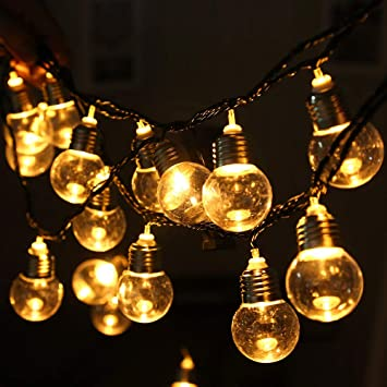 OOFAY Guirnalda Exterior Luminosas,5.8M E40 Cadena De Luces LED con 20 Bombillas Patios,Jardines,Café,Cobertizos,Bodas,Pérgolas: Amazon.es: Deportes y aire ...