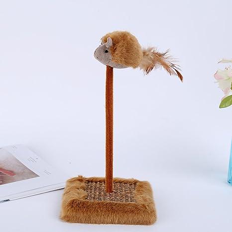 MGYAY Juguete Interactivo para Gato con diseño de Gato con Plumas y ratón, Juguete para