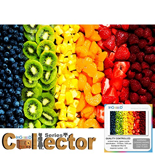 Ingooood- Jigsaw Puzzle -Collector Series- Rainbow Fruits - 1000 Pieces for Adult Wooden Toys Graduation