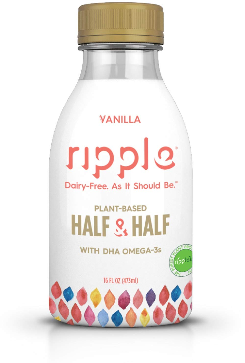 Ripple Original Dairy Free Plant Based Half & Half Vanilla ...