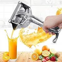 Exprimidor de frutas Exprimidor de naranja y limón Extractor Herramienta de exprimido manual portátil de acero inoxidable Fácil de usar para el hogar