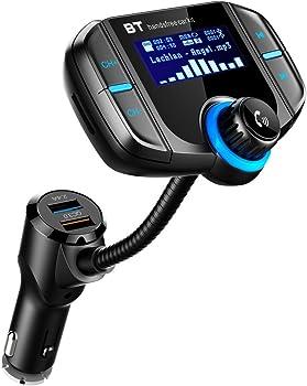 LUMAND Bluetooth FM Transmitter w/QC 3.0