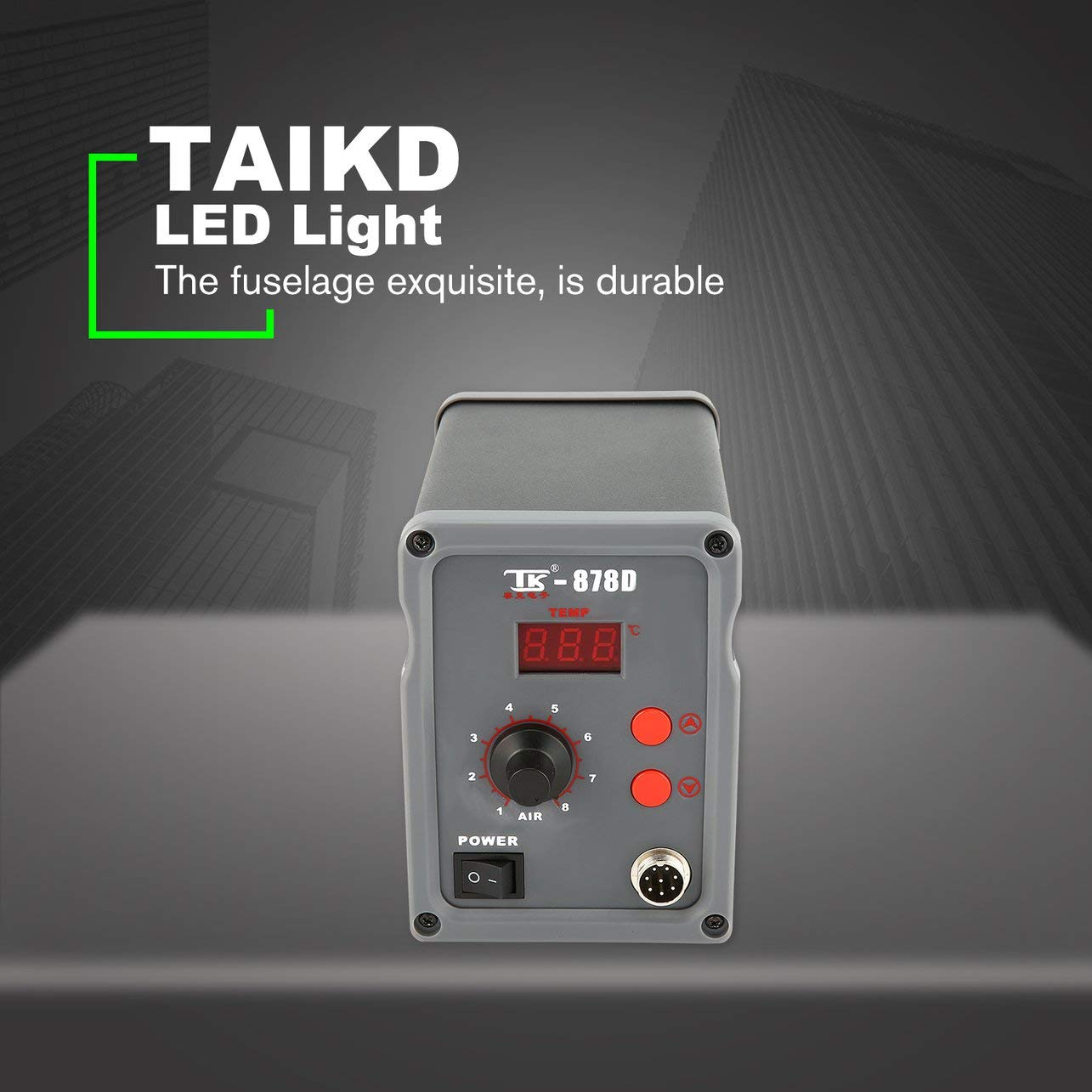 TAIKD Estación de soldadura digital soplador de aire caliente pistola de calor herramienta de reparación de soldadura: Amazon.es: Bricolaje y herramientas