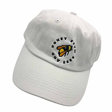 5abf2815116b0 Golf Wang Baseball Cap Bee Embroidered Dad Hats Adjustable Snapback Cotton  Hat Unisex White  Amazon.co.uk  Clothing