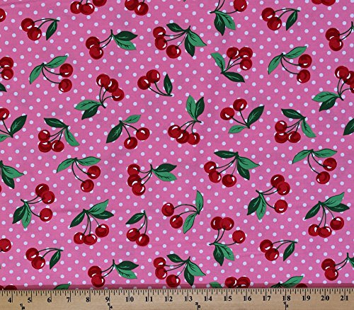 cotton-cherry-dot-cherries-white-polka-dots-on-pink-cotton-fabric-print-by-the-yard-cx6561-blom-d