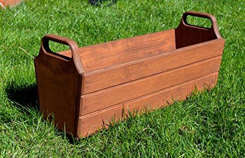 NEU Pflanzkasten aus Holz TOP Pflanzkübel Garten Terrasse fertig montiert D11 Dunkelbraun (70 cm)
