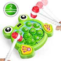 LURLIN Interactive Whack A Frog Game, Durable Pounding Toy, Helps Fine Motor Skills...