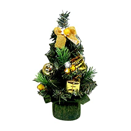 ahzzy mini artificial christmas tree decoration 20 cm home ornaments