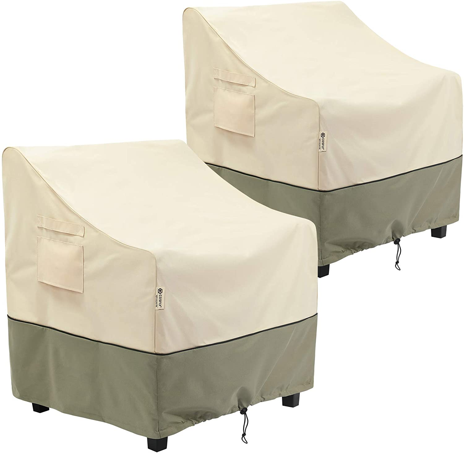 COSFLY Outdoor Furniture Patio Chair Covers Waterproof Clearance, Lounge Deep Seat Cover, Lawn Furnitures Covers Fits up to 32W x 37D x 36H inches(2 Pack)