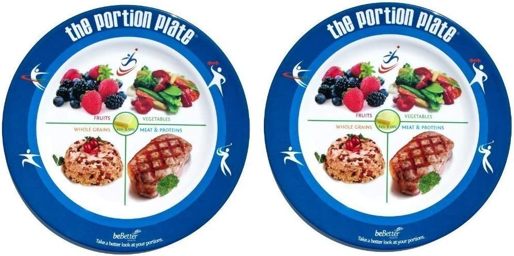 The Adult Portion Plate - Food Portions (2 pack)