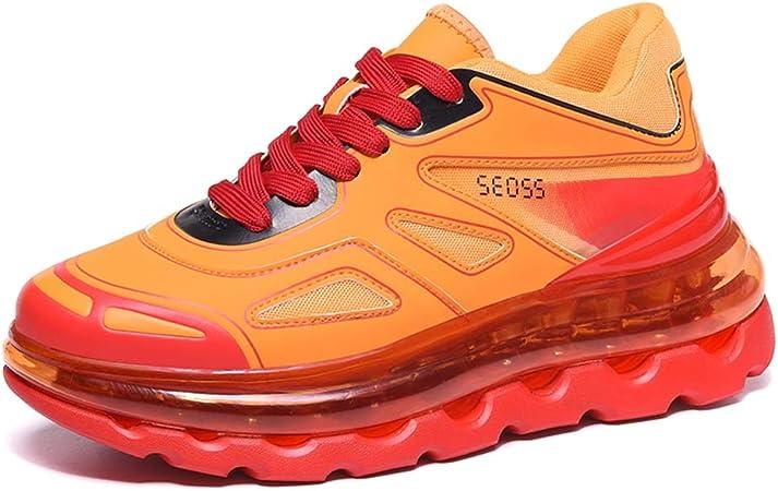 YSZDM Zapatillas de Carretera para Hombre, Zapatillas de amortiguación con amortiguación de Aire Desgaste Antideslizante Zapatillas de Tenis para Correr,Naranja,37: Amazon.es: Hogar