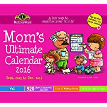 MotherWord Mom's Ultimate 16 Month Wall Calendar, September 2015-December 2016, 12 X 21-1/2-Inch