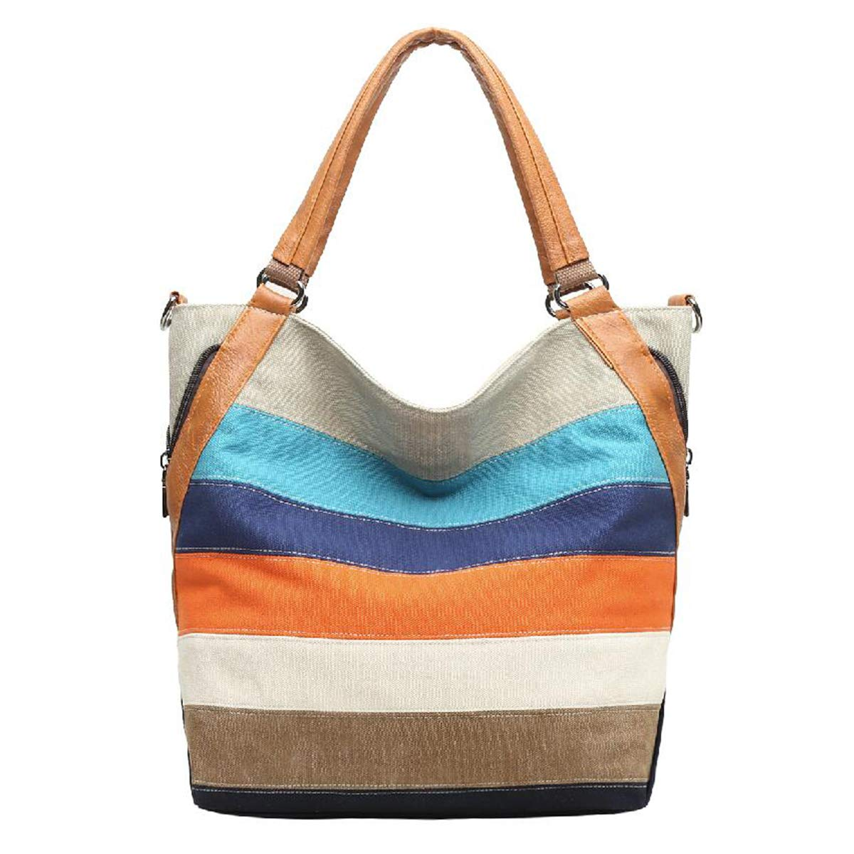 8fb9563cb5 Eshow Women s Canvas Shoulder Bag Crossbody Bag Purse Top Handle Handbag  Tote Daily Hobo Casual Shopping