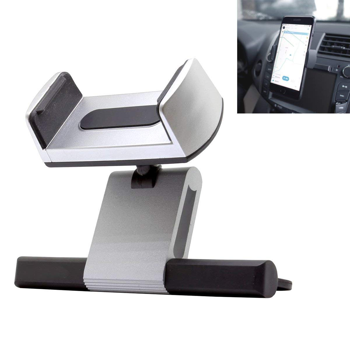 Car Mount, Phone Holder Universal Car Phone Holder,CD Slot Car Phone Mount Compatible w/Universal iPhone X,SE, 5, 5S, 6, 6S, 7, 7 Plus,8, 8 Plus/Galaxy S5, S6, S7, S7 Edge, S8,S9,Note 4, Note Edge