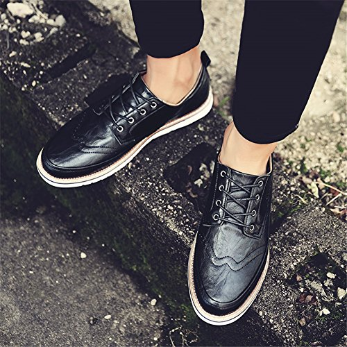 Casual Bianco PU C Estate Business Shoe Scarpe up XUE formale Business Brown Pure da Pure Grey lavoro Lace Primavera Pure Traspirante leggero Scarpe uomo Black Xqq4STz