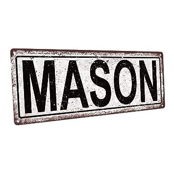 Cartel metálico de Mason para decoración de Pared para ...
