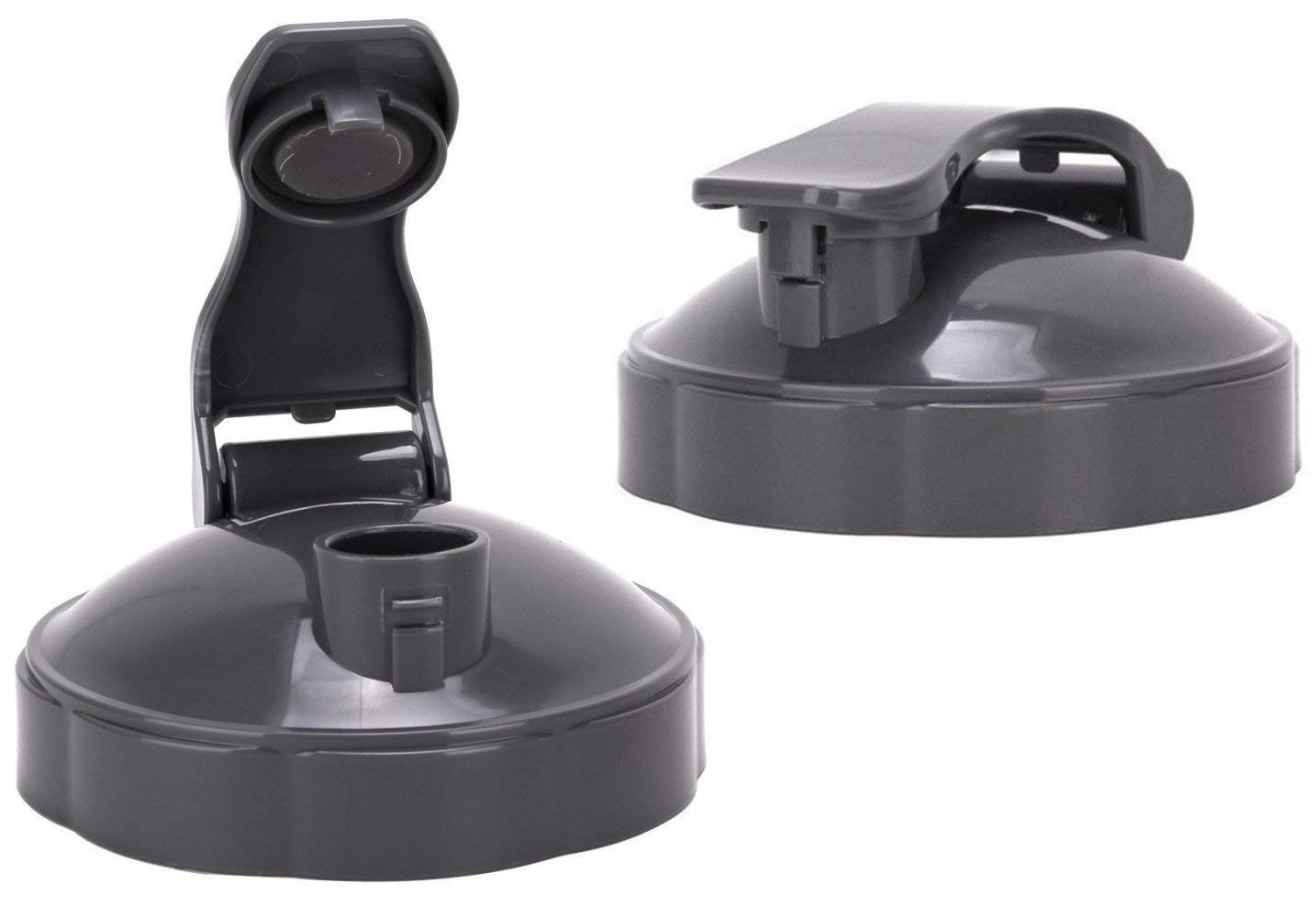 NutriBullet Flip Top To-go Lid - Premium NutriBullet Accessories & Replacement Parts (Pack of 2, Grey)