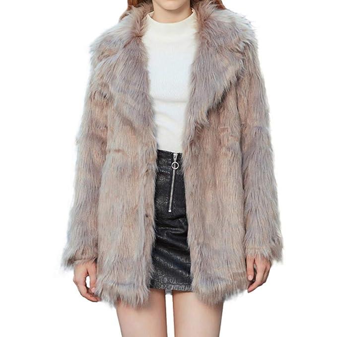 JESPER Women Winter Faux Fur Coat Cashmere Imitation Mink Fur Ling Coat with Hooded at Amazon Womens Coats Shop