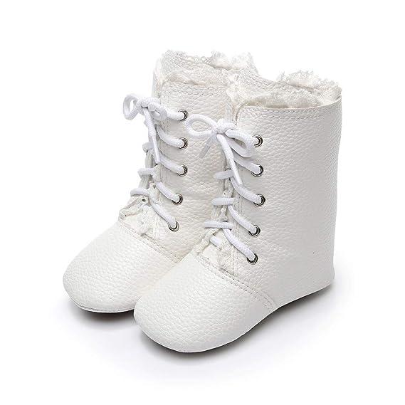 YanHoo Zapatos para bebés recién Nacido bebés niños niñas Cuna Botas de Invierno Prewalker Warm Shoes