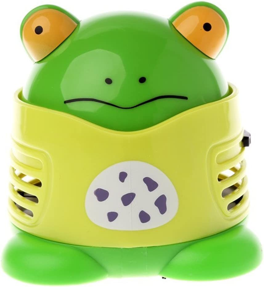 VesipaFly Table Cleaner, Desktop Vacuum Cartoon Mini Frog Dust Catcher Assistance Keyboard Cleaning, Dust Sweeper for Home Office