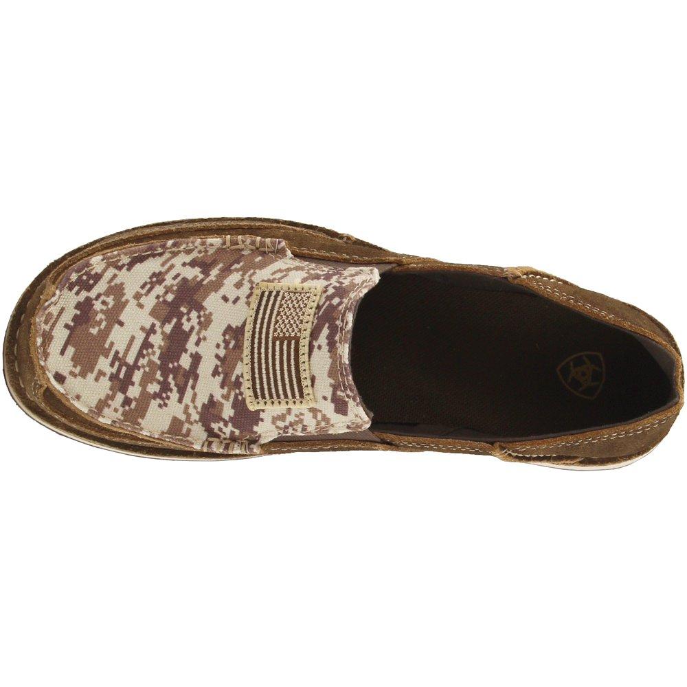 Ariat Men's Cruiser Slip-on Shoe B079VTHX2R 8.5 D(M) US Antique Mocha Washed Suede