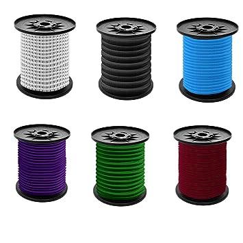 Spiralhaken 5m Bis 50m Gummiseil Gummileine Spannseil Haken Business & Industrie 6mm Expanderseil Tauwerk & Fender