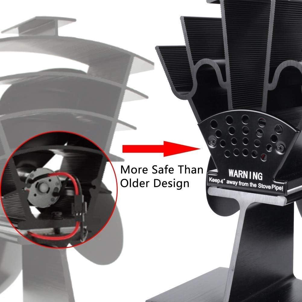 4 fl/ügel kenley ofenventilator kaminventilator l/üfter f/ür kamin ventilatoren kaminofen ofen stromloser ohne strom ventilator stromlos holz/öfen /öfen fan