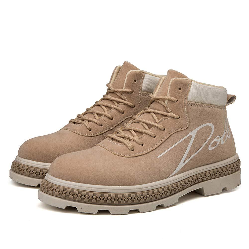 ❤ Botas de Cremallera para Hombres Trabajan, Hombres Botas Tobillo Botas Zapatos de Trabajo Casual High-Cut Adultos Caminar Calzado Zapatillas de Deporte ...