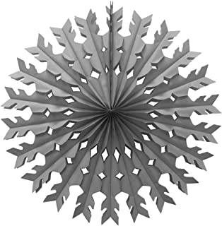 product image for 12-Pack 22 Inch Large Tissue Paper Snowflake (Gray)