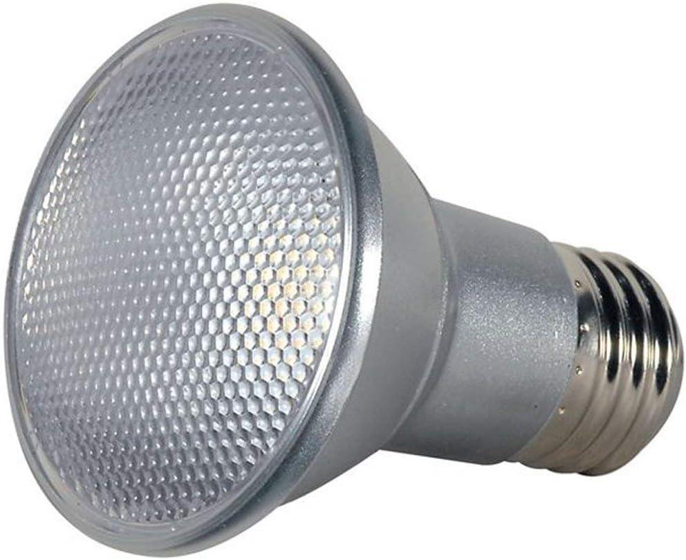 6 Pack Satco 7 watt PAR20 LED; 3000K; 40 Beam Spread; Medium Base; 120 Volts S9406