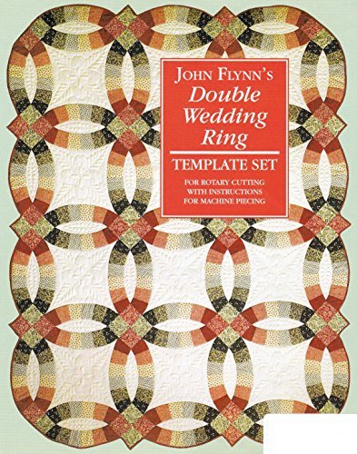 Quilting Template Set Double Wedding Ring 18 inch by Flynn Quilt Frame Co