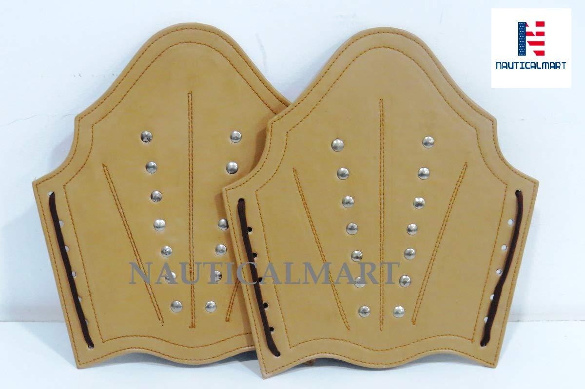 NAUTICALMART Leather Arm Guards - Medieval Knight Bracers - One Size by NAUTICALMART