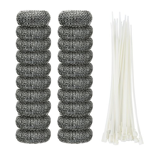 Price comparison product image Shappy 20 Pieces Lint Traps Washing Machine Lint Trap Snare Laundry Mesh Washer Hose Filter with 20 Pieces Cable Ties