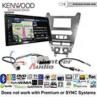 Volunteer Audio Kenwood Excelon DNX694S Double Din Radio Install Kit with GPS Navigation System Android Auto Apple CarPlay Fits 2008-2011 Focus