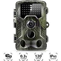 Suntek Camera de Chasse 16MP 1080P Trail Camera avec 42 Infrarouges LED Vision Nocturne Infrarouge 65pieds Temps de déclenchement 0.5S, Angle de détection de 120 degrés .800A