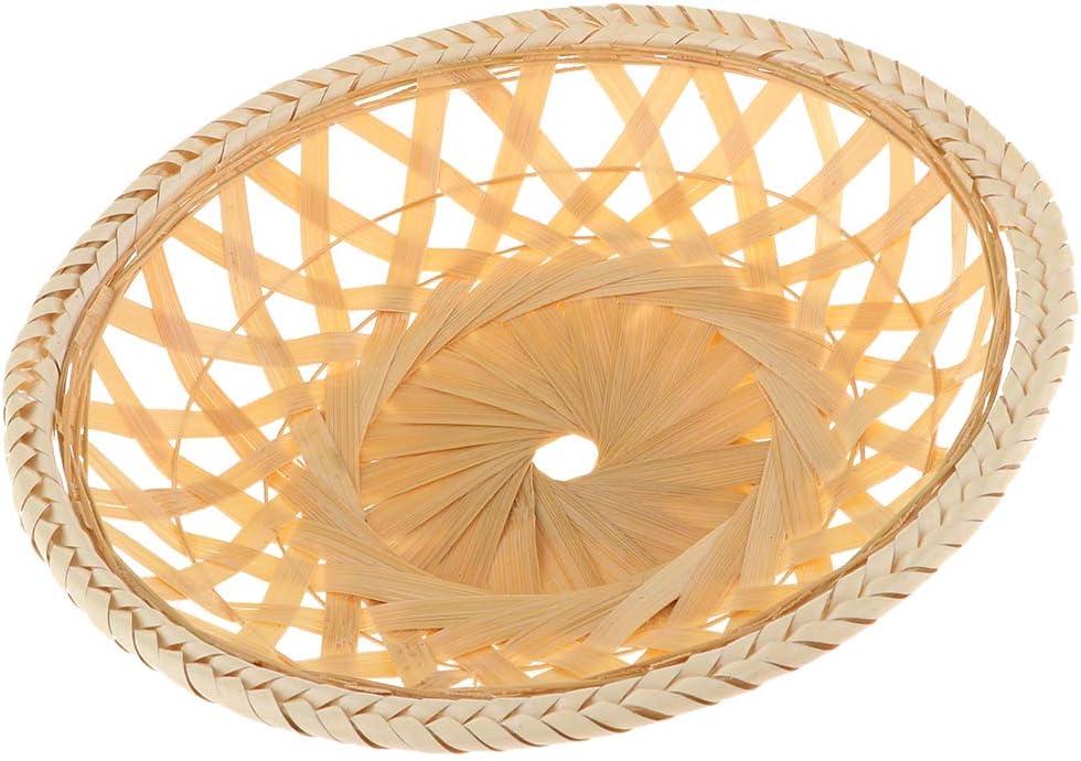 Cestas de Bambú Plato para Servir Pan y Verduras Decoración para Restaurante Hotel - 22X4cm: Amazon.es: Hogar