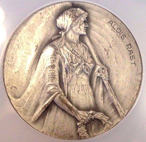 1916 CH Rare Swiss Silver Shooting Medal Ticino R-1523a A coin Good