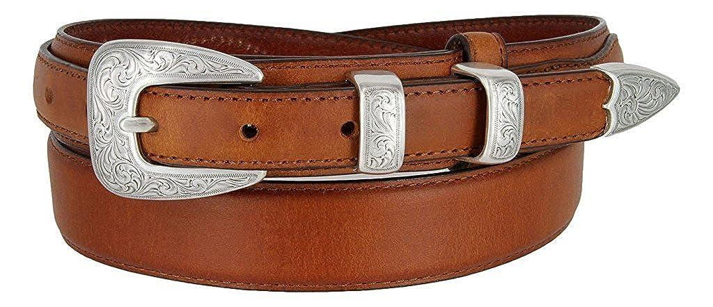 Pele Belt Men 1-1//8 Wide Heavy Stitched Genuine Leather 4 Piece Metal Buckle