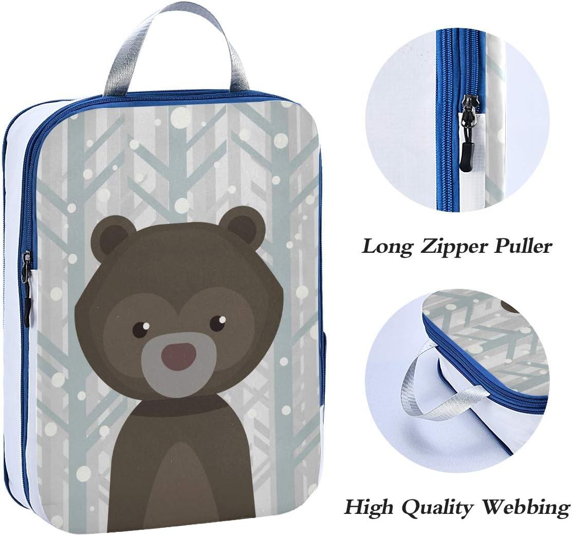 h Brown Bear 3 Set Packing Cubes,2 Various Sizes Travel Luggage Packing Organizers