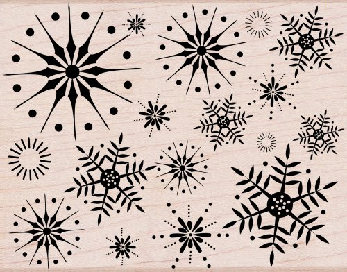 (Hero Arts Rubber Stamps Stunning Snowflakes Woodblock)