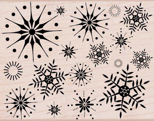 Hero Arts S5069 Woodblock Stamps, Stunning Snowflakes